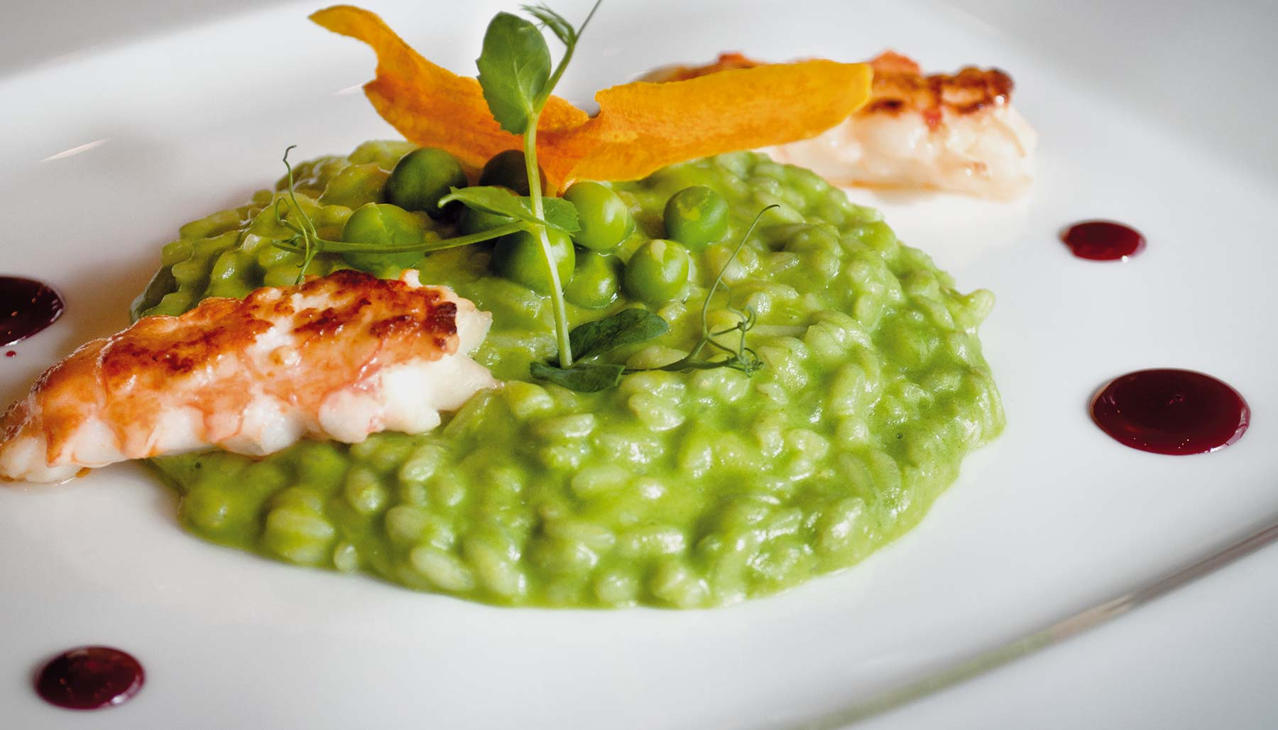 Peas and Pesto Risotto