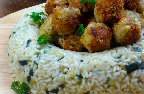 Dinner Party Risotto with Fish Croquettes