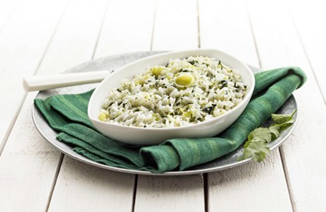 Garlic, Coriander and Onion Carolino Rice