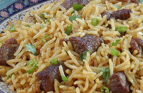 Lamb and Rice in Mild Spices