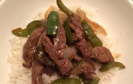 Pepper Steak with Basmati Rice