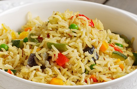 Spicy Wholegrain Veg Pilau (v)