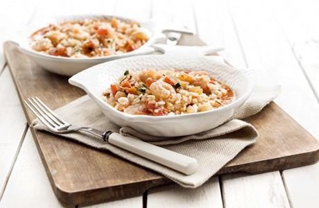 Tomato Carolino Rice, Shrimp, Coriander, Ginger and Lemongrass