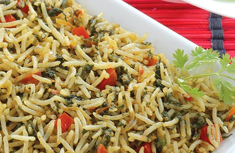 Tomato and Spinach Rice (v)